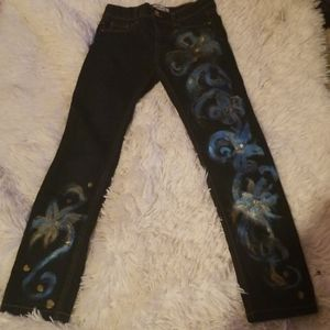 💎BEAUTIFUL HAND  PAINTED  JEANS💎